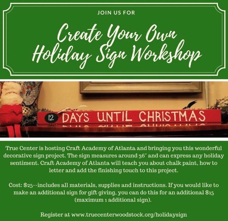 Create Your Own Holiday Sign Workshop Cherokee County Chamber Of Beauteous Make Your Own Decorative Sign